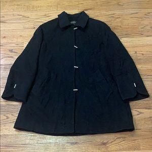 Black Wool/Cashmere Jacket Kristen Black sz:S